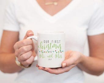 Our First Christmas as Mr and Mrs Gift, Newlywed Christmas Gift, Our First Christmas as Mr and Mrs, Newlywed Coffee Mug