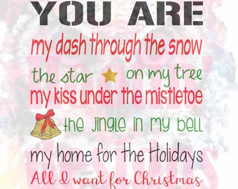 you are all i want for christmas SVG file