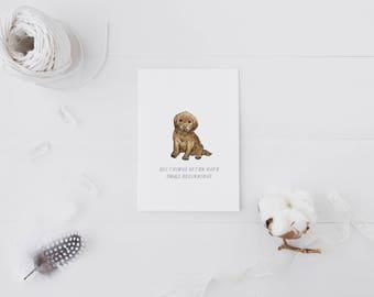 Small Beginnings Puppy card