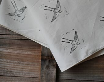 Bird Furoshiki Cloth, Barn Swallows
