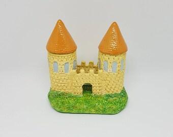 Authentic handmade castle (figurine, ceramics, sculpture)