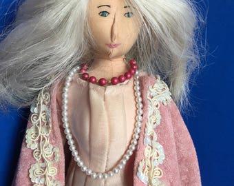 Handmade Cloth Doll Edna