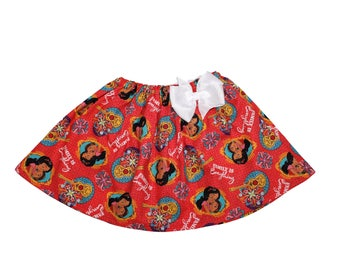 Girl Elena of Avalor skirt Girl birthday skirt Isabel Elena girl skirt Girl Elena Isabel birthday skirt toddler skirt Girl skirt