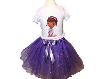 Girl Doc Mcstuffins Tutu Birthday Outfit Girl Doc tutu outfit  baby tutu outfit Doc Mcstuffins  girl Tutu outfits Girl Birthday tutu
