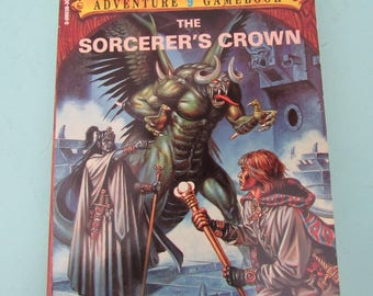 Advanced Dungeons & Dragons Adventure Game Book #9 The Sorcerer's Crown TSR 1986 Free Shipping