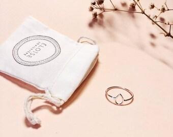 minimalist ring sterling ring, raindrop ring, silver ring, drop ring, minimalist