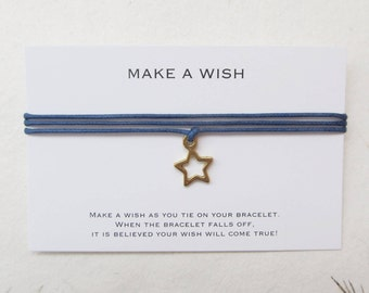 Wish bracelet, make a wish bracelet, friendship bracelet, star bracelet