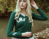 Cozy Cardigan Autumn Fashion Classic Lolita Green Cardigan · Fairy Cabinet Collection by Violet Fane
