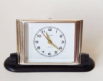 Soviet Clock vintage Slava (Glory) Clock Mechanical Vintage Clock Workable Metal Case Clock USSR 70's оригинальный подарок часы будильник