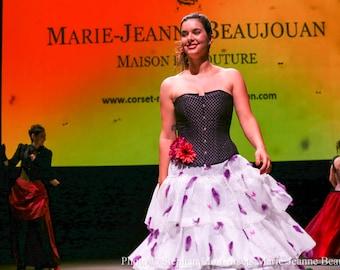 corset sewing Marie-Jeanne Samantha, unique piece.