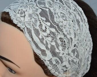 Headband ivory bridal lace, ivory headband, headband bridal ivory lace, chic ivory wedding headband, ivory lace headpiece