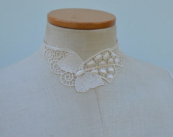 Lace wedding, Bridal lace Choker necklace cocker wedding champagne beige bridal necklace, Choker, necklace, ivory Choker