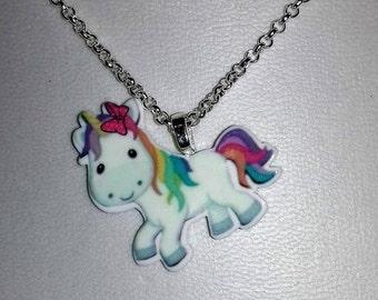 Cute unicorn pendant
