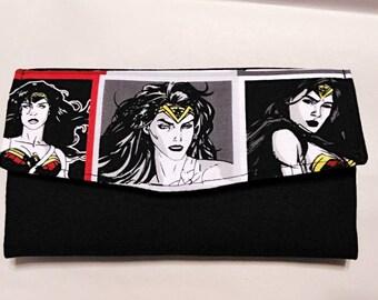 Wonder Woman Tri Fold Wallet
