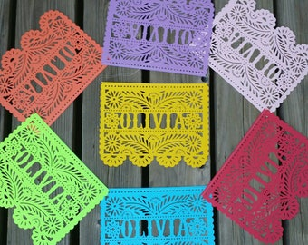 One Name / Word Papel Picado / Papel Picado Banner / Multicolor Papel Picado / Birthday Banner / Mexican / Spanish Banner
