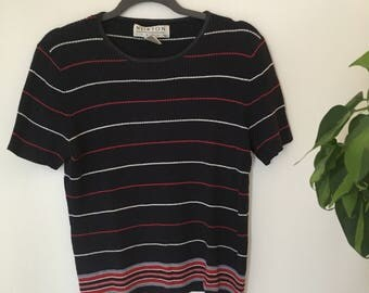 Retro Stripped Knit Top