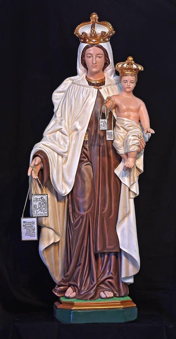 "Our Lady of Mount Mt. Carmel 57"" Fiberglass Catholic Christian Mary Statue"