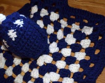 Chunky Tardis Lovey Blanket Crochet Doctor Who