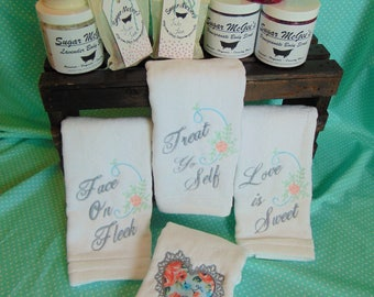 Cutom Tea Towels - Perfect for Valentine's pampering!