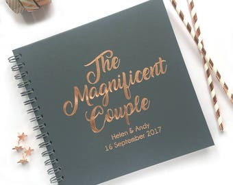 Personalied Wedding Guestbook, Wedding Guestbook, Wedding Book, Personalised Guestbook, Foil Guestbook, The Magnificent Couple