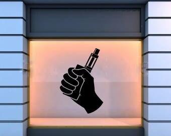 Wall Window Decal Sticker Vape Shop Vaping Vape Store Logo 1818t