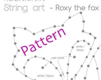 String art Tutoriel + Modèle - Roxy le renard