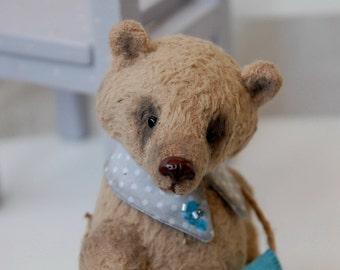 """Artist Bear teddy, Teddy bear, Jacqueline, 6.29"""", 16 cm, OOAK bear, mohair bear, collectible, miniature teddy bear, handmade teddy bear"""