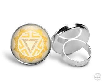 Solar Plexus Chakra Manipura Ring   Solar Plexus Chakra Ring, Manipura Chakra Ring, Adjustable Ring, Chakra Jewelry, Boho Jewelry, Yellow