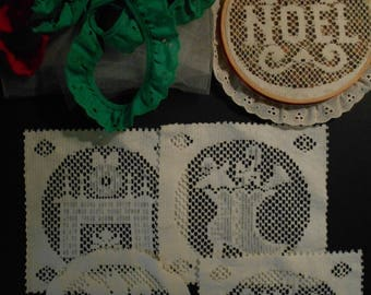 Craft Supplies for Hanging Pictures, Noel/Angel/Mantle/Shoes Pictures, Christmas Potpourri Hoop Pictures,