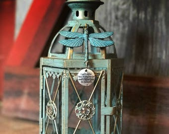 Unique Dragonfly Memorial Lantern light Personalized gift Miscarriage Stillbirth loss of loved one funeral in memory of item coworker loss l
