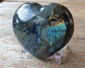 Labradorite heart- 346 g