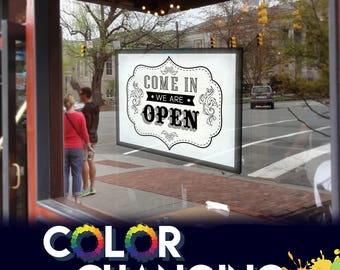 Open Sign, Hanging Open Sign, Come In We Are Open, We Are Open Sign, Hanging Open Sign, Lighted Open Sign, Business Sign, Open Closed Sign