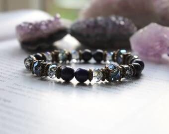 Lapis Lazuli, Throat Chakra, Protection Bracelet, Gemstone Bracelet, Healing Bracelet, Yoga Bracelet, Reiki Bracelet, Meditation Bracelet