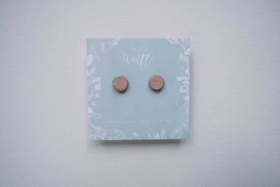 Petal Pink Studs in Earthenware