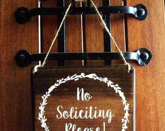 No Soliciting sign | Door Sign | No Soliciting | Do Not Disturb Sign | No Solicitation Sign | No Strangers Sign | Soliciting Door Sign