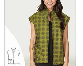 Mandarin Vest Sering Pattern Indygo Junction indygo Essentials IJ1152E New Free Shipping
