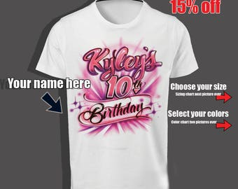 10th Birthday shirt, 10th Birthday, double digits, Girl 10th birthday, turning 10 years old, 10th birthday gift, 2007 limited edition
