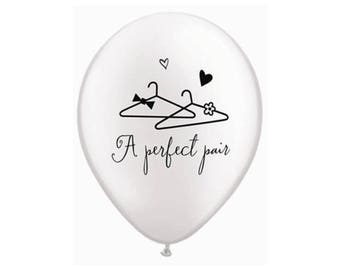 """11"""" Wedding Balloons - Bridal Shower Balloons - Bachelorette Party Decorations - Engagement Balloons - Bachelorette Party Balloons - Props"""