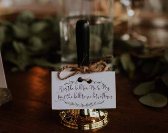 Greenery Printable Sign For Wedding Bells Ring The Bell Mr And Mrs