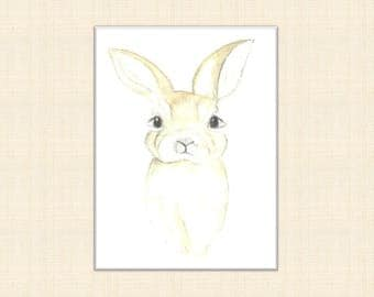 bunny print, scandi print, scandi rabbit print, scandi rabbit art, nursery art, nursery print, bunny art, rabbit