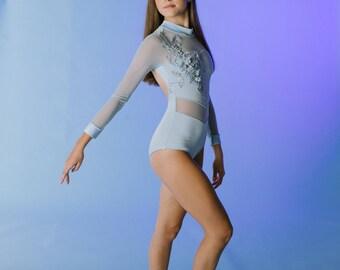 Custom dance leotard, custom dance leotard Lyrical dance costume or contemporary dance costume ;Leotard Dance Costume