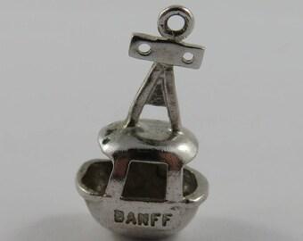 Banff Ski Gondola Sterling Silver Vintage Charm For Bracelet