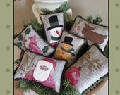 Christmas Bowl Fillers pattern by All Through the Night!! Comes with pre-printed fabric!