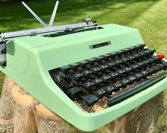 Cursive Script Pistachio Green Olivetti Lettera 32 Typewriter