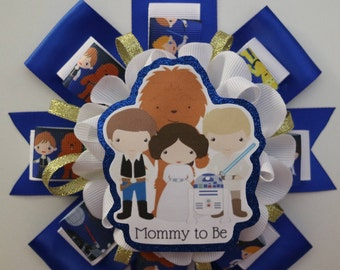 Blue Star Wars Baby Shower Mommy to Be Corsage