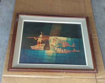Vintage paul klee sinbad the sailor reproduction print framed picture poster