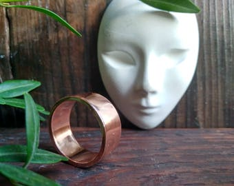 Magic Polished Ring. Anniversary gift - 7 years together - Copper wedding, Men's ring, Women's ring  For Him, For Her, Gift for Newlyweds