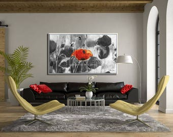 Extra Large Painting, Extra Large Wall Art, Flowers Painting Extra Large Art, Extra Large Canvas, Large Canvas Art, Huge Painting