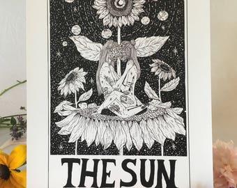 Tarot Card Print • 'The Sun' • by Madison Ross