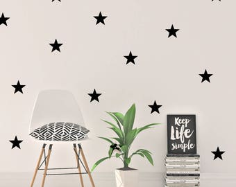 "Peel and Stick Wall Decals | 2"" Star Wall Stickers 